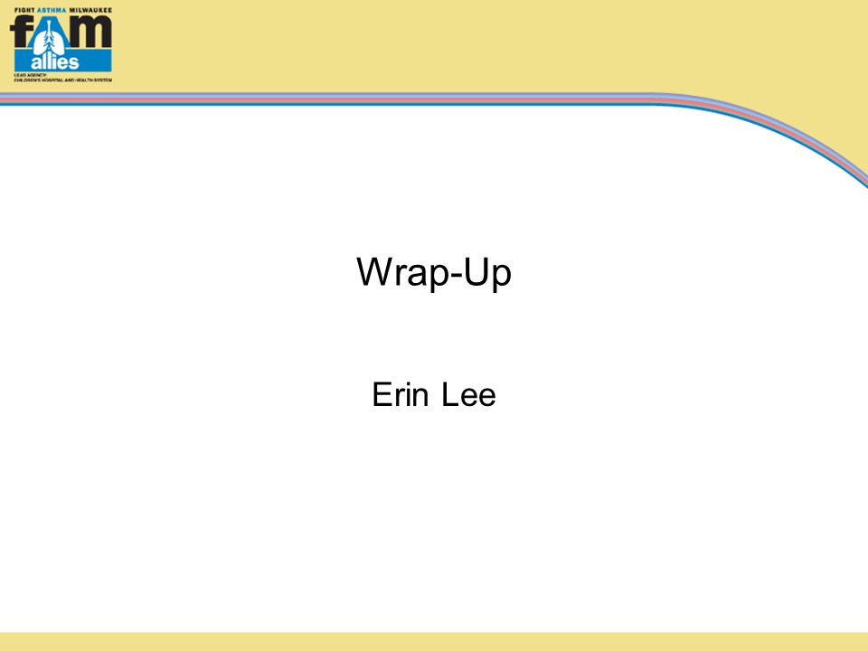 Wrap-Up Erin Lee