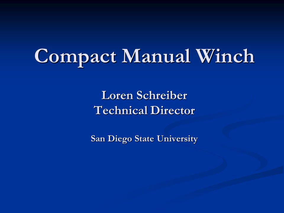 Dan Eslinger Seattle Rep Standard 5HP Winch