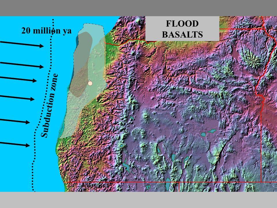 20 million ya Subduction zone FLOOD BASALTS