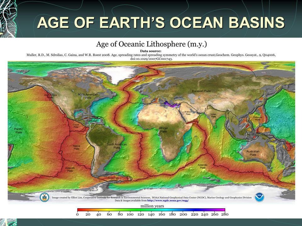 AGE OF EARTH'S OCEAN BASINS