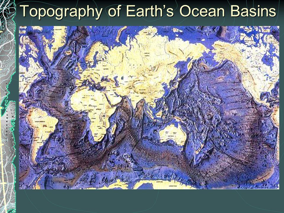 Topography of Pacific Ocean Basin