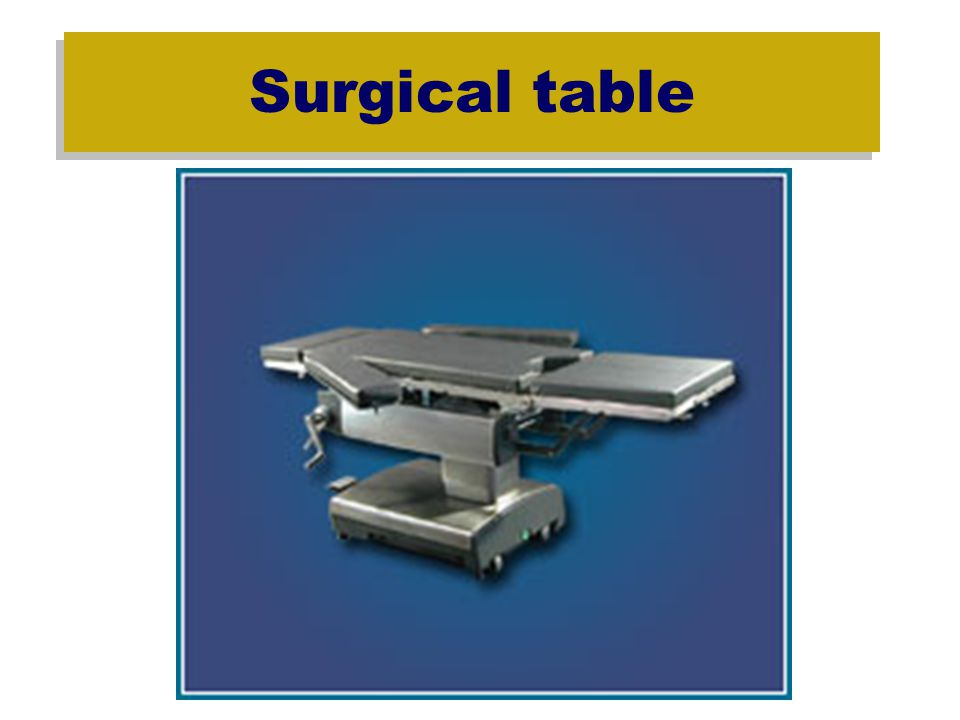 Surgical Positioning During clinical this semester – spend time after cases learning the operation of the OR table and proper positioning.