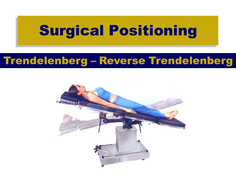 Surgical Positioning Sitting Cardiac –Pooling blood in lower body decreases central blood volume.