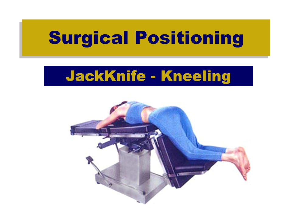 Positioning Checklist Surgical Positioning