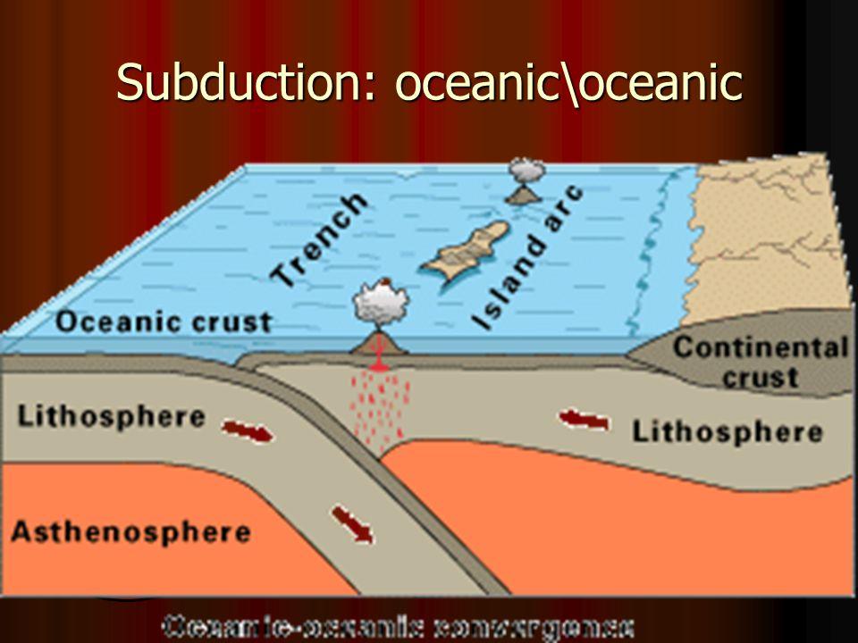 Subduction: Oceanic\Cont'l