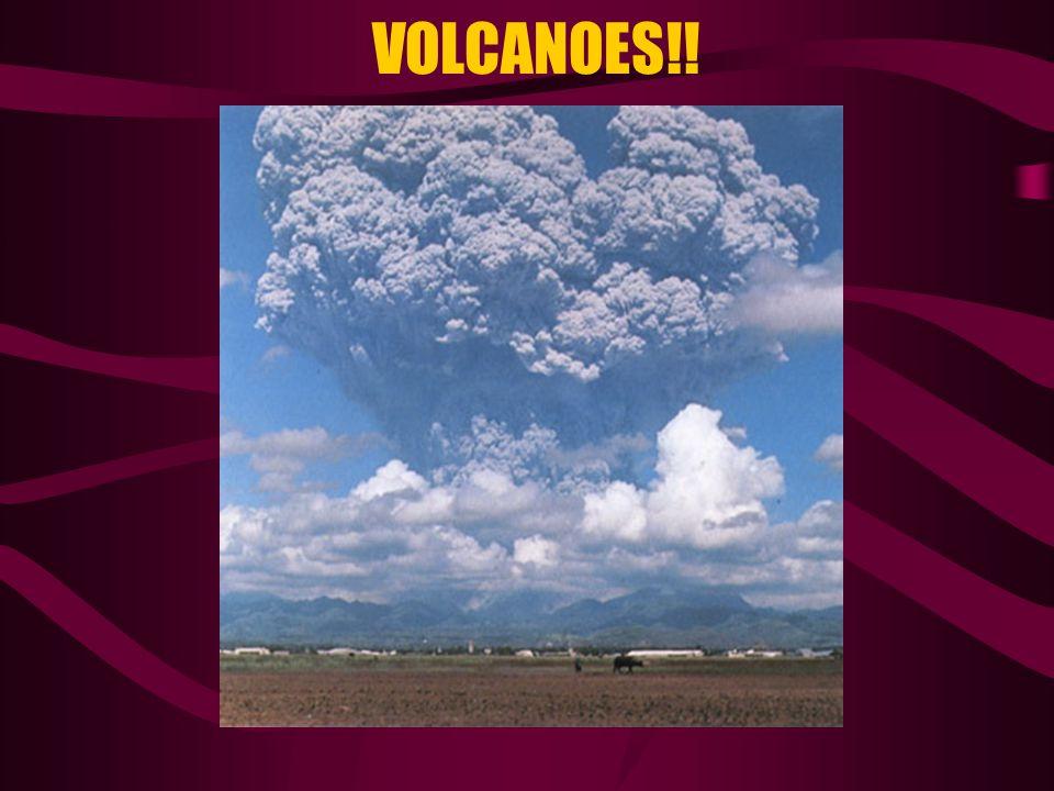 An underwater volcanic eruption A volcanic fissure eruption