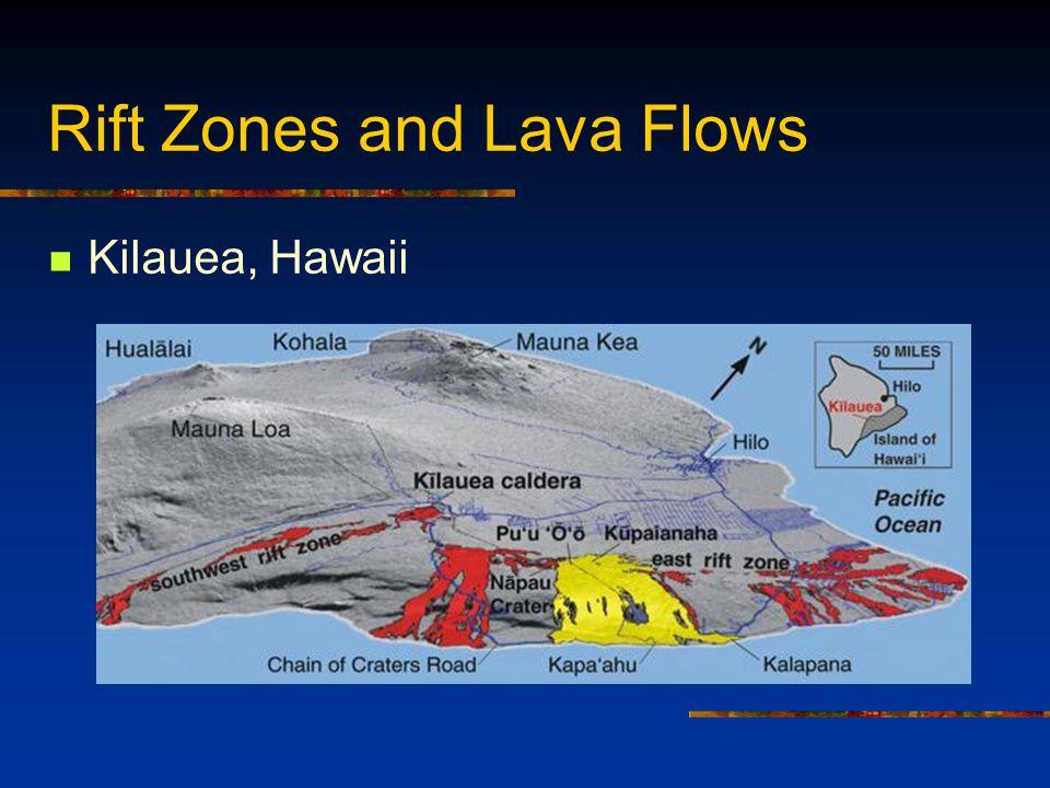 Rift Zones and Lava Flows Kilauea, Hawaii