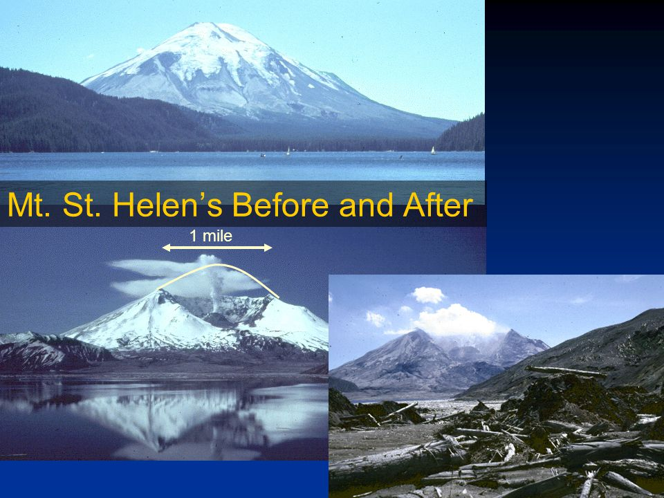 1 mile Mt. St. Helen's Before and After
