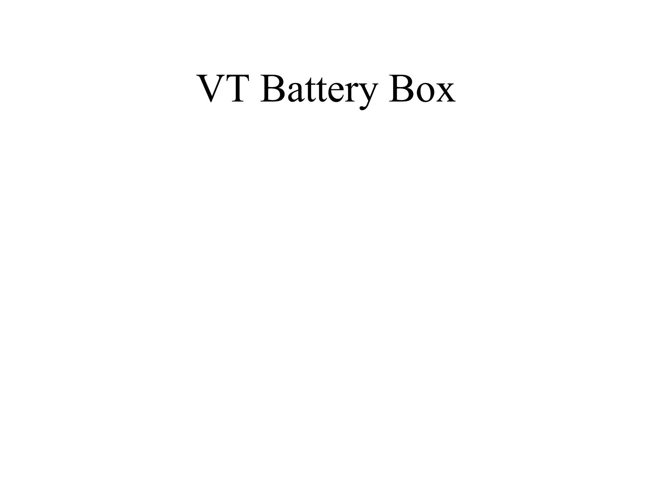 VT Battery Box