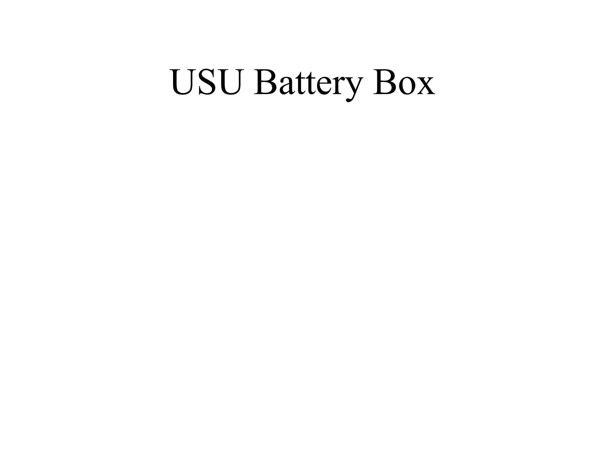 USU Battery Box