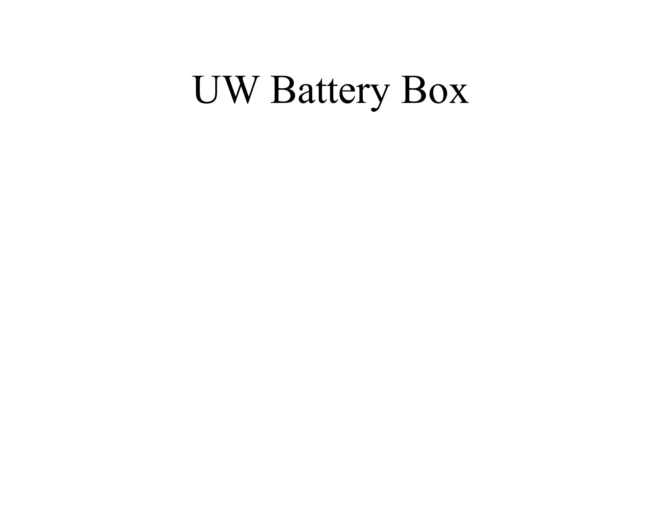 UW Battery Box