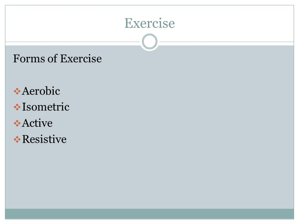 Exercise Why Exercise.
