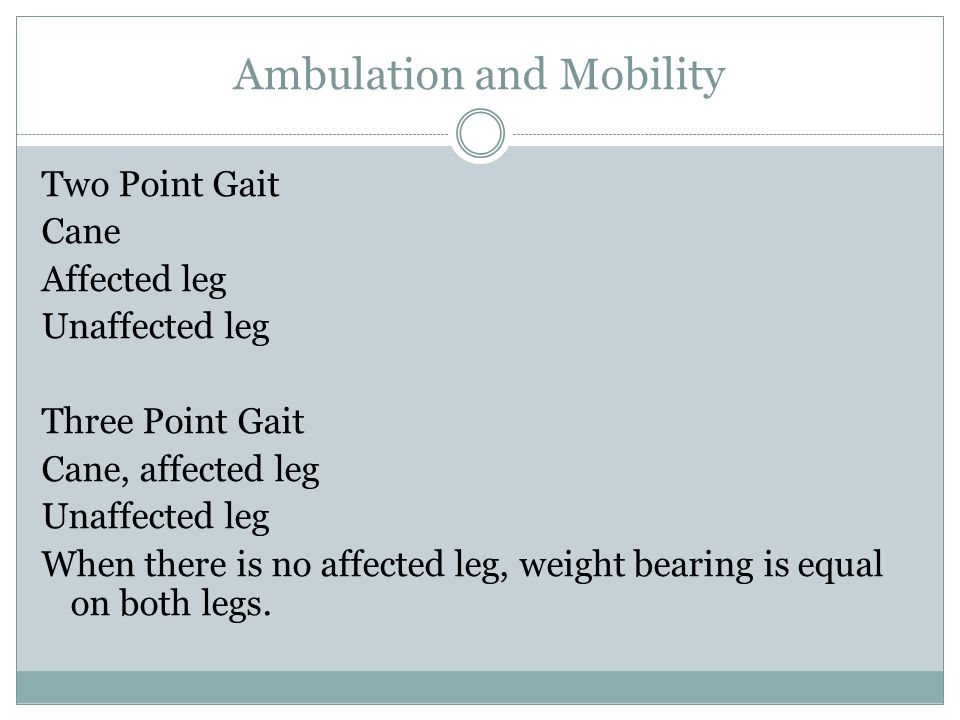 Ambulation and Mobility Canes  Quad canes have four prongs and offer a wide base of support.