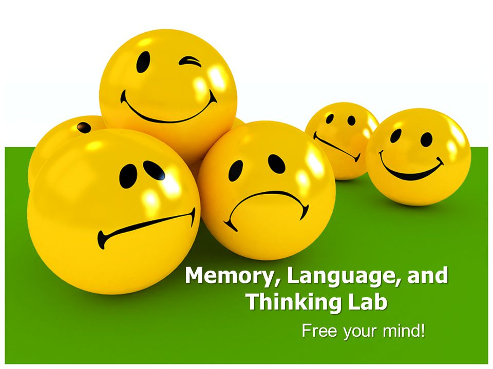Memory, Language, and Thinking Lab Free your mind!