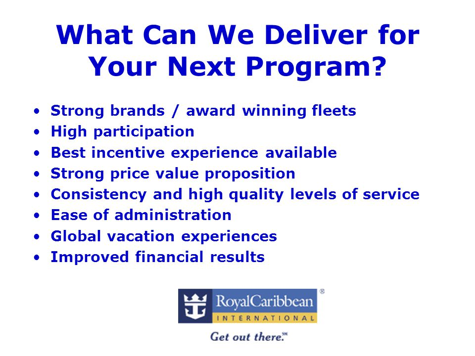 What Can We Deliver for Your Next Program.