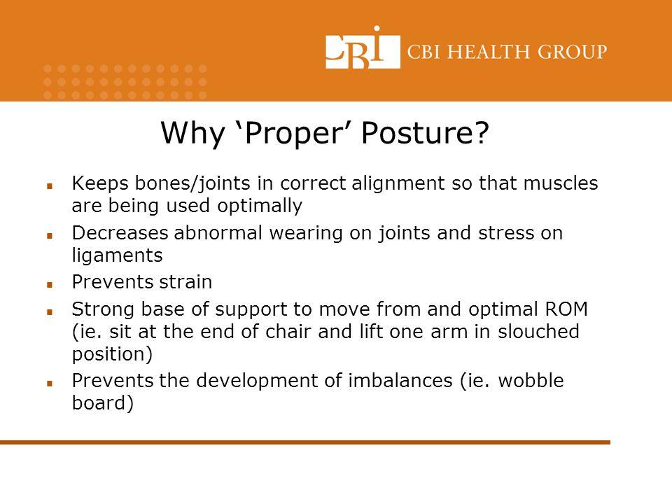 Why 'Proper' Posture.