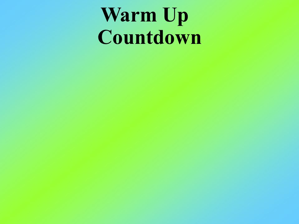 Countdown Warm Up