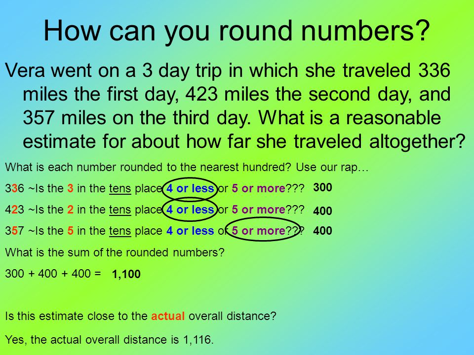 How can you round numbers.