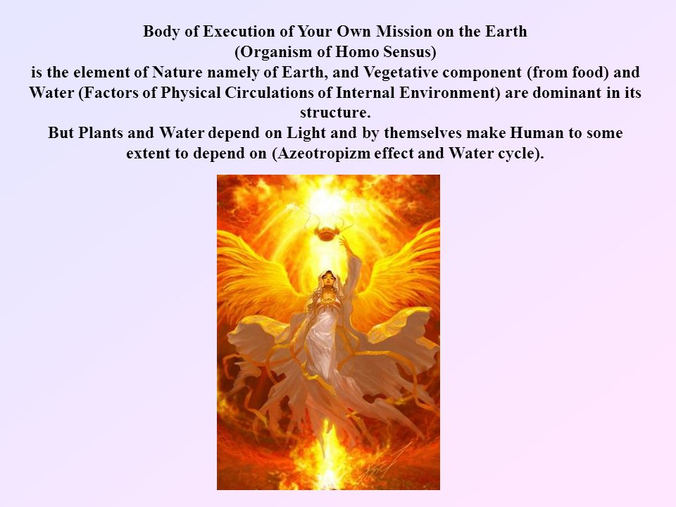 You as Homo Sensus also Know that You Personally are not the Body-Organism, but it is just an Instrument for Execution of Your Mission.