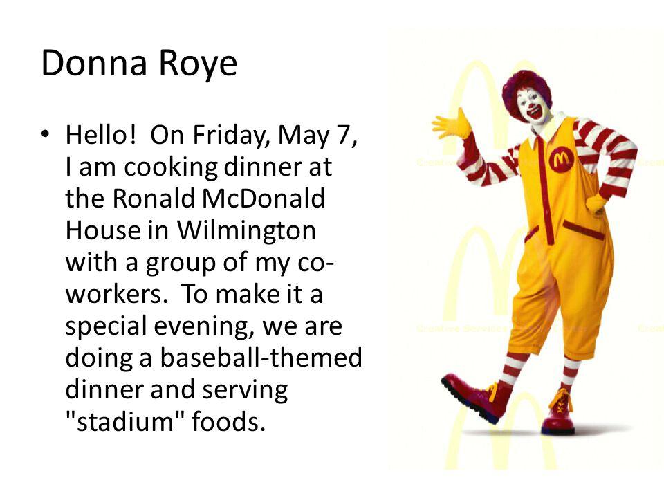 Donna Roye Hello.