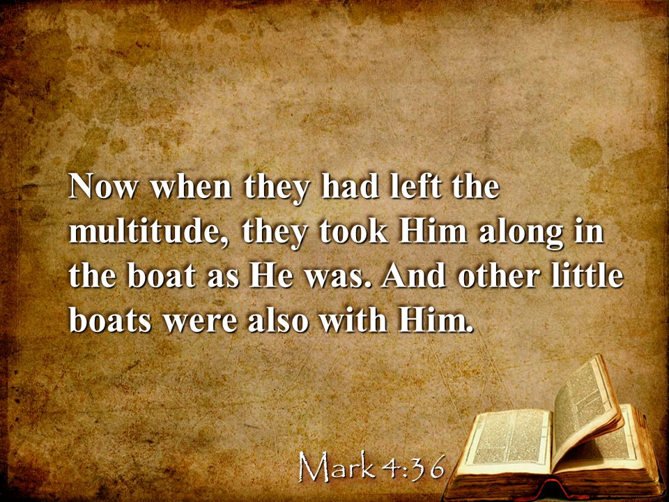 Now when they had left the multitude, they took Him along in the boat as He was.