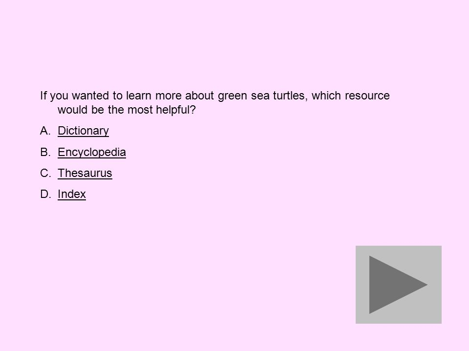 If you wanted to learn more about green sea turtles, which resource would be the most helpful.