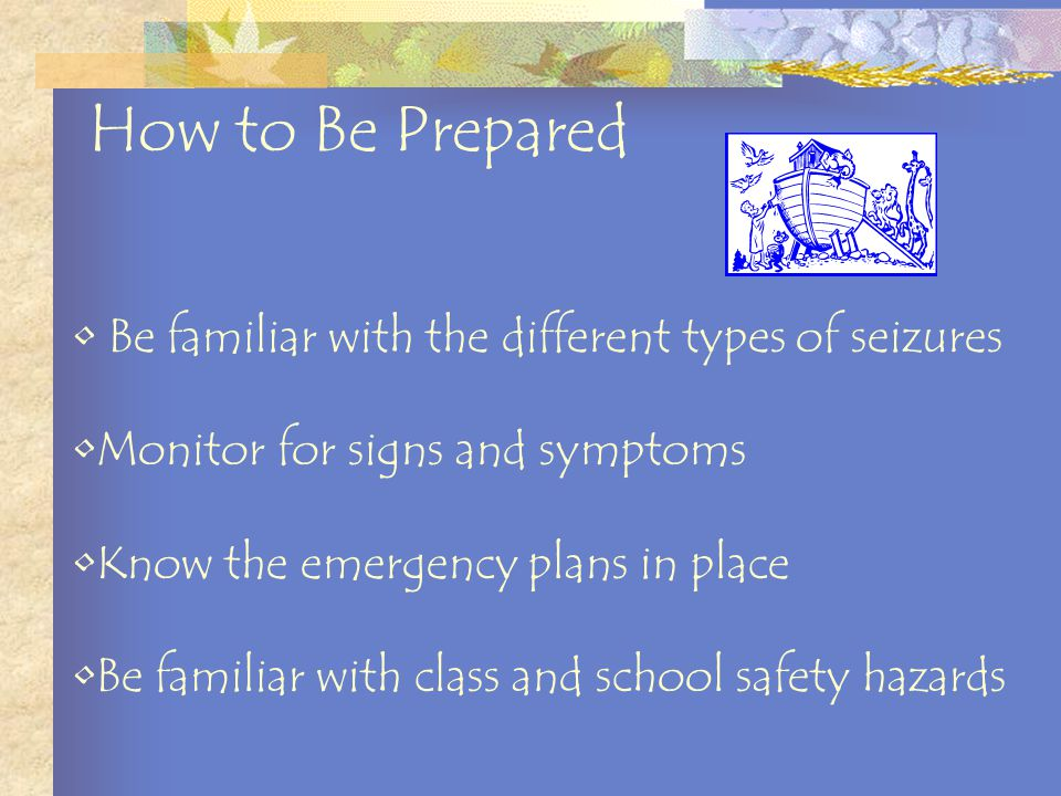 Place a blanket or pillow under student's head Remove or loosen tight, restrictive clothing from around student's neck Be prepared to document after Notify appropriate school personnel and student's parents.