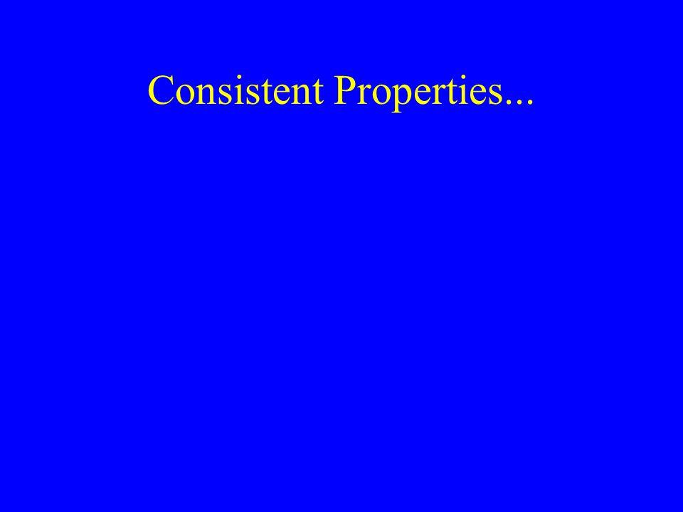 Consistent Properties...