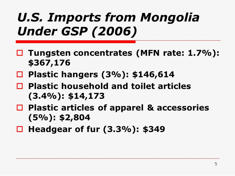 16 Increase GSP-eligible textile & apparel exports: cashmere blend These products would have to, according to the HTSUS product description, contain 70% or more of silk or silk waste, so technically could be blended with up to 30% or less cashmere:  61171040 Shawls, scarves, etc.