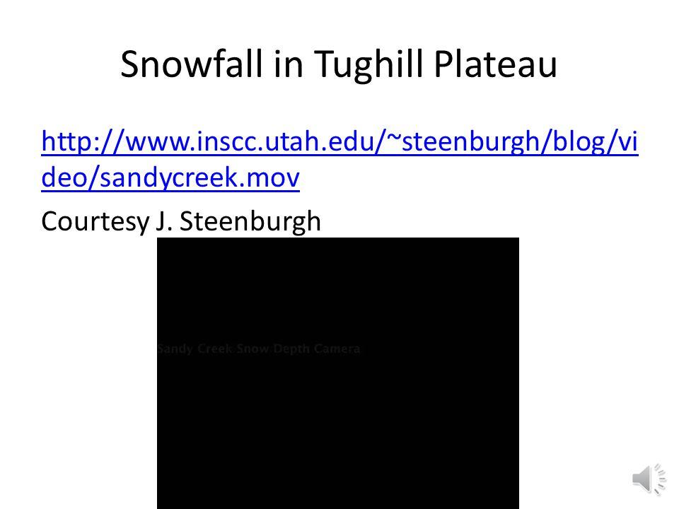 Snowfall in Tughill Plateau http://www.inscc.utah.edu/~steenburgh/blog/vi deo/sandycreek.mov Courtesy J.