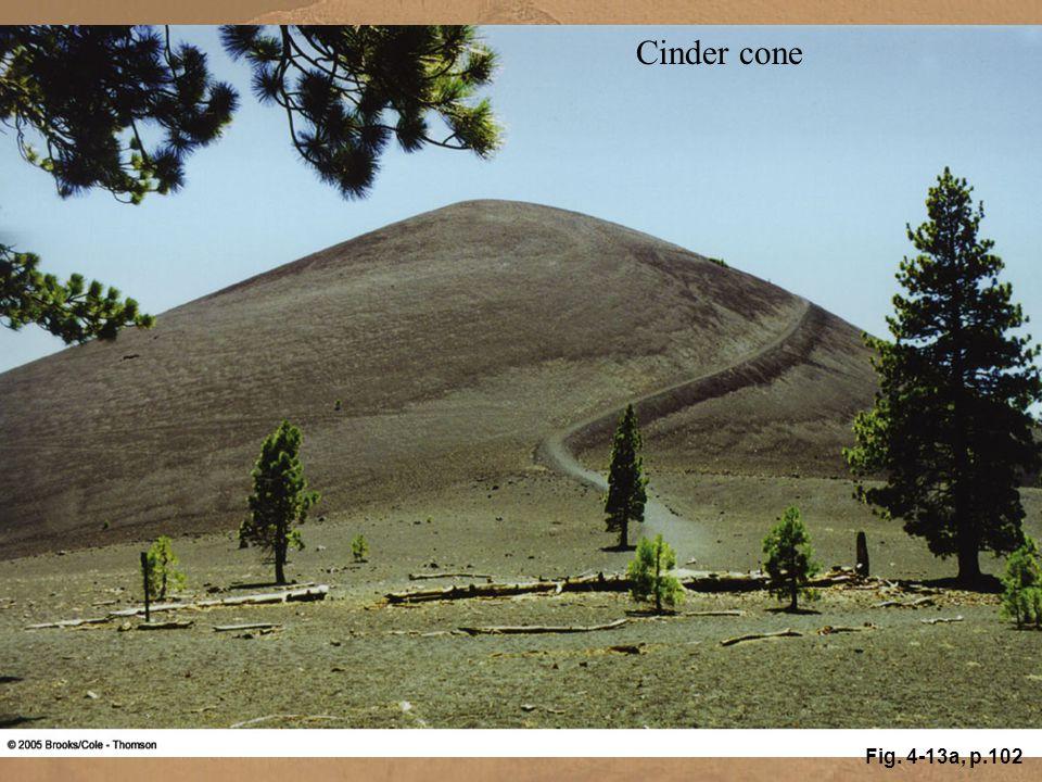 Cinder cone Fig. 4-13a, p.102