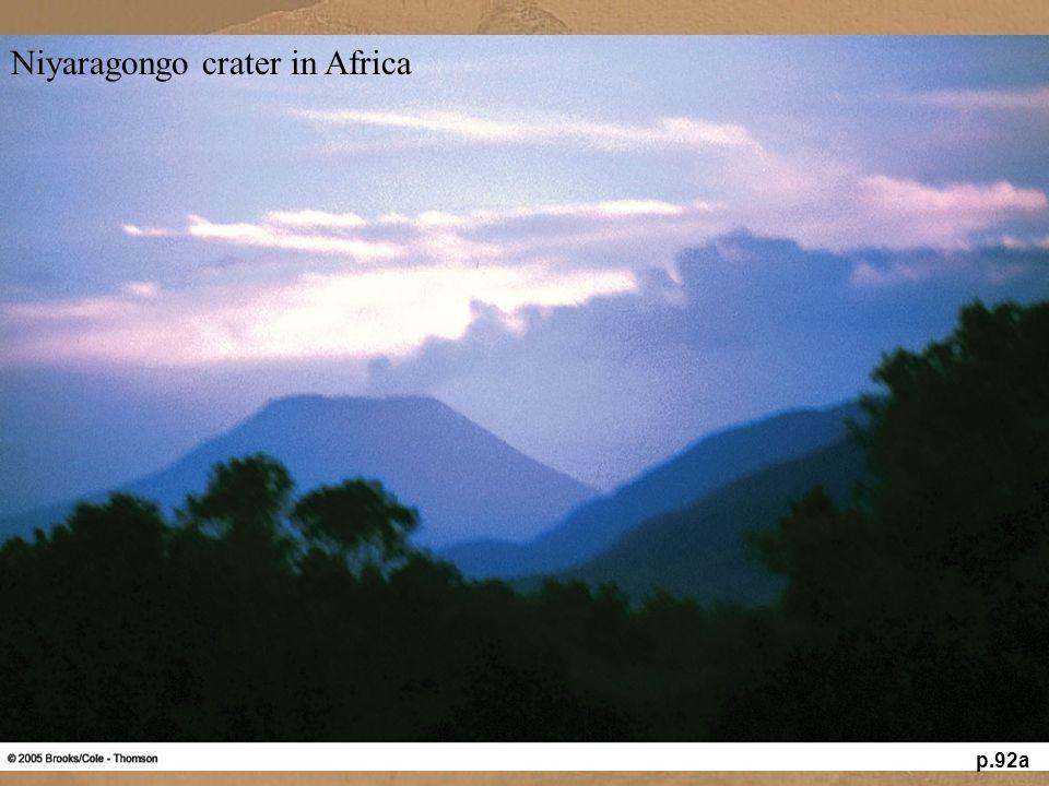 Niyaragongo crater in Africa p.92a