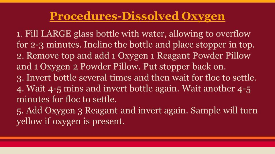 Procedures-Dissolved Oxygen 1.