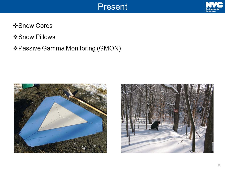 9 Present  Snow Cores  Snow Pillows  Passive Gamma Monitoring (GMON)
