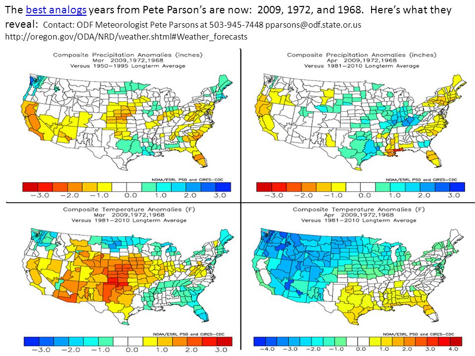 The best analogs years from Pete Parson's are now: 2009, 1972, and 1968.