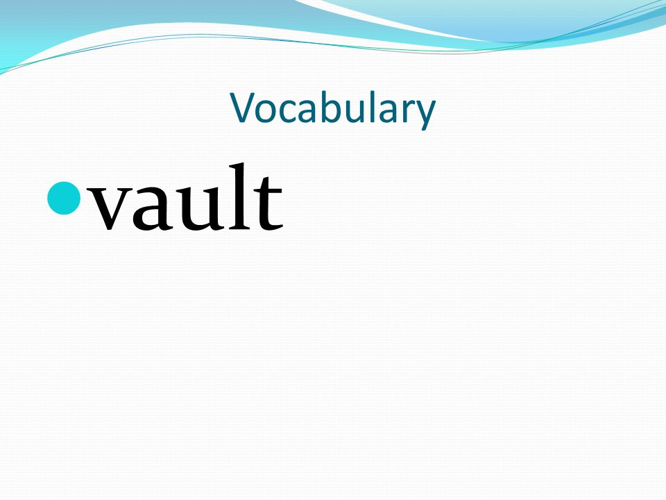 Vocabulary vault