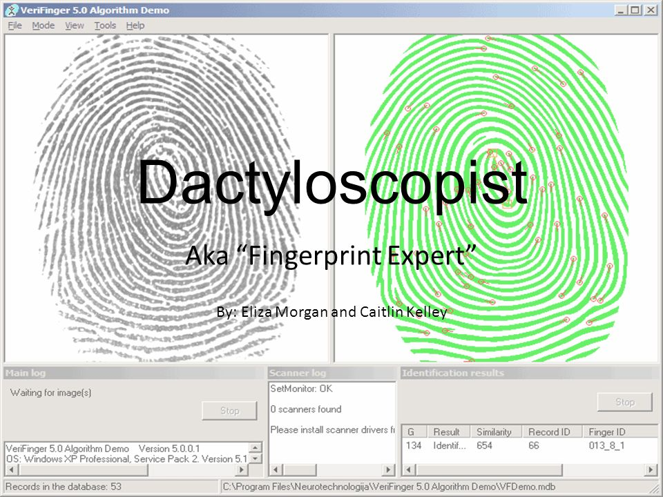 Dactyloscopist Aka Fingerprint Expert By: Eliza Morgan and Caitlin Kelley