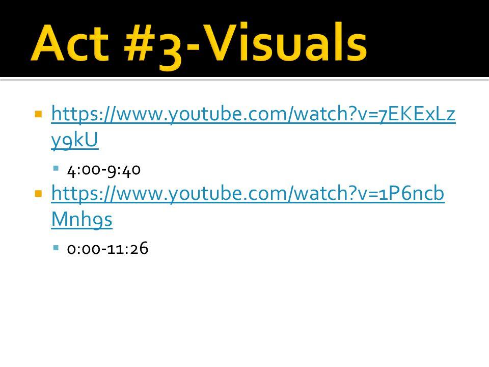  https://www.youtube.com/watch v=7EKExLz y9kU https://www.youtube.com/watch v=7EKExLz y9kU  4:00-9:40  https://www.youtube.com/watch v=1P6ncb Mnh9s https://www.youtube.com/watch v=1P6ncb Mnh9s  0:00-11:26