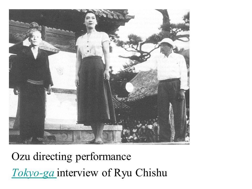 Ozu directing performance Tokyo-ga Tokyo-ga interview of Ryu Chishu