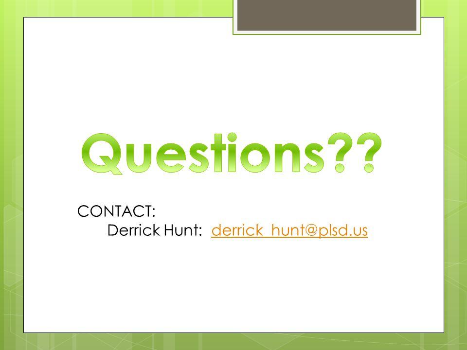 CONTACT: Derrick Hunt: derrick_hunt@plsd.usderrick_hunt@plsd.us