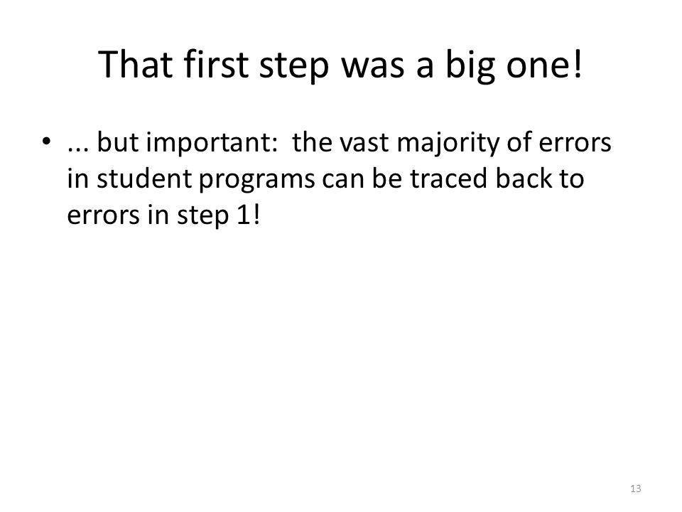 That first step was a big one!...