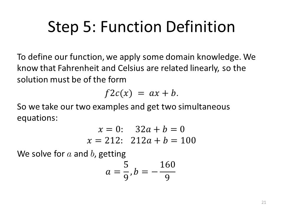 Step 5: Function Definition 21