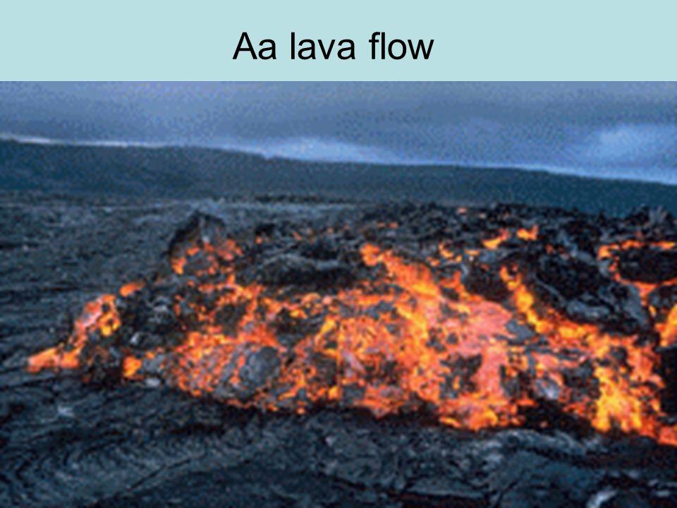 Aa lava flow