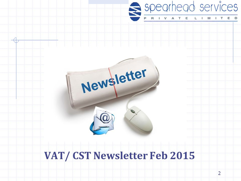 VAT/ CST Newsletter Feb 2015 2