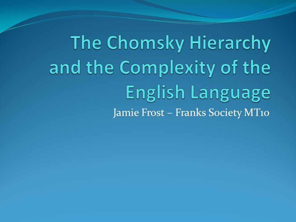 Jamie Frost – Franks Society MT10