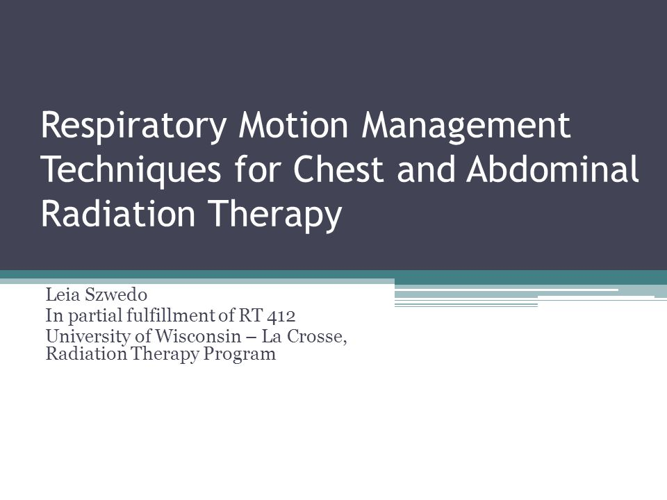 Background Issue 1 : ▫Respiratory motion caused by patient breathing during radiation therapy treatment can cause displacement of the tumor location.