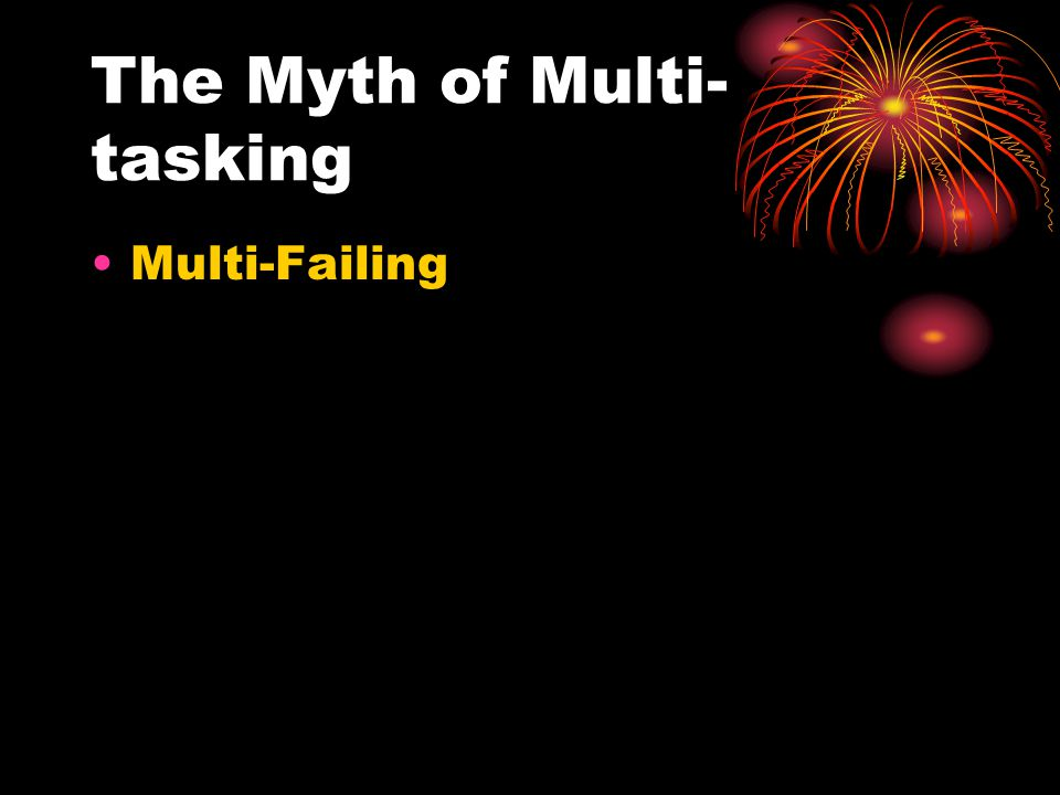 The Myth of Multi- tasking Multi-Failing