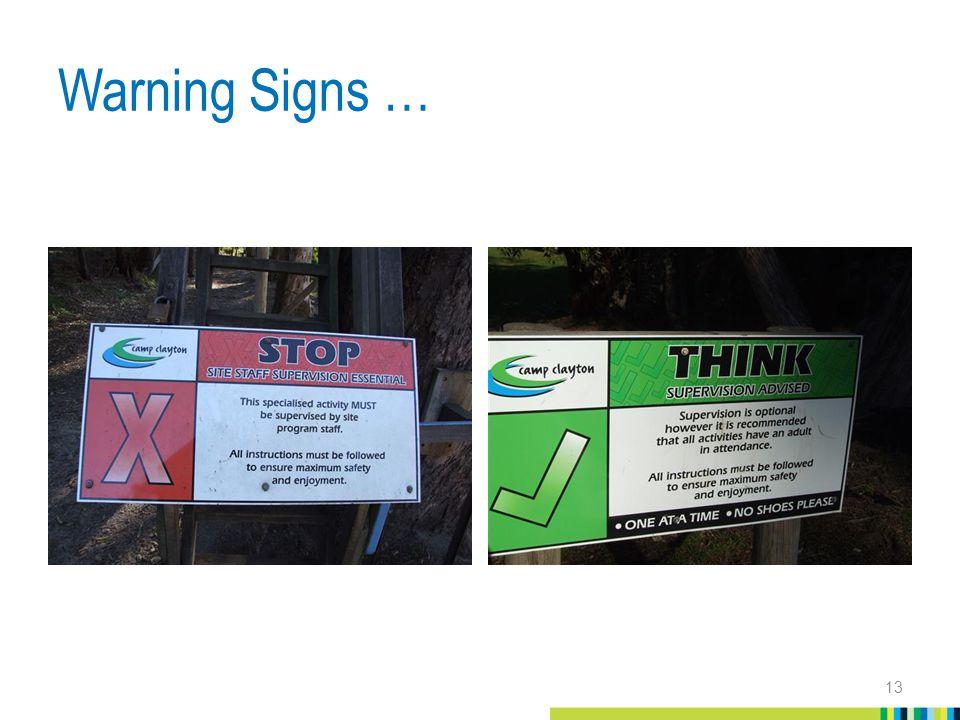Warning Signs … 13