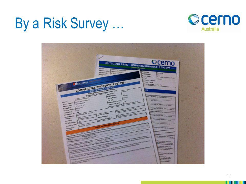 By a Risk Survey … 17