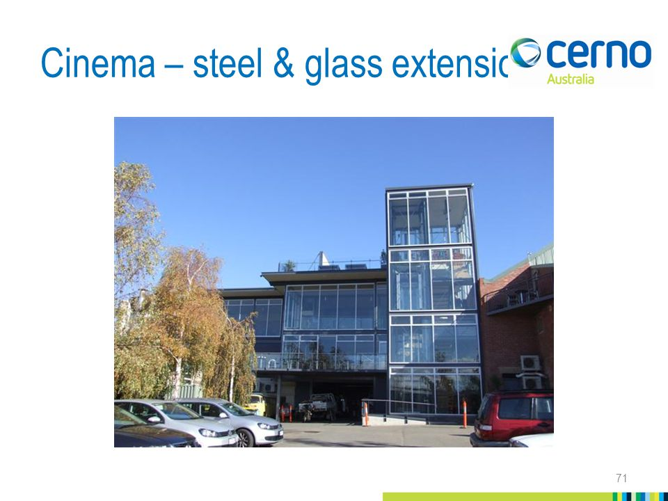 Cinema – steel & glass extension 71